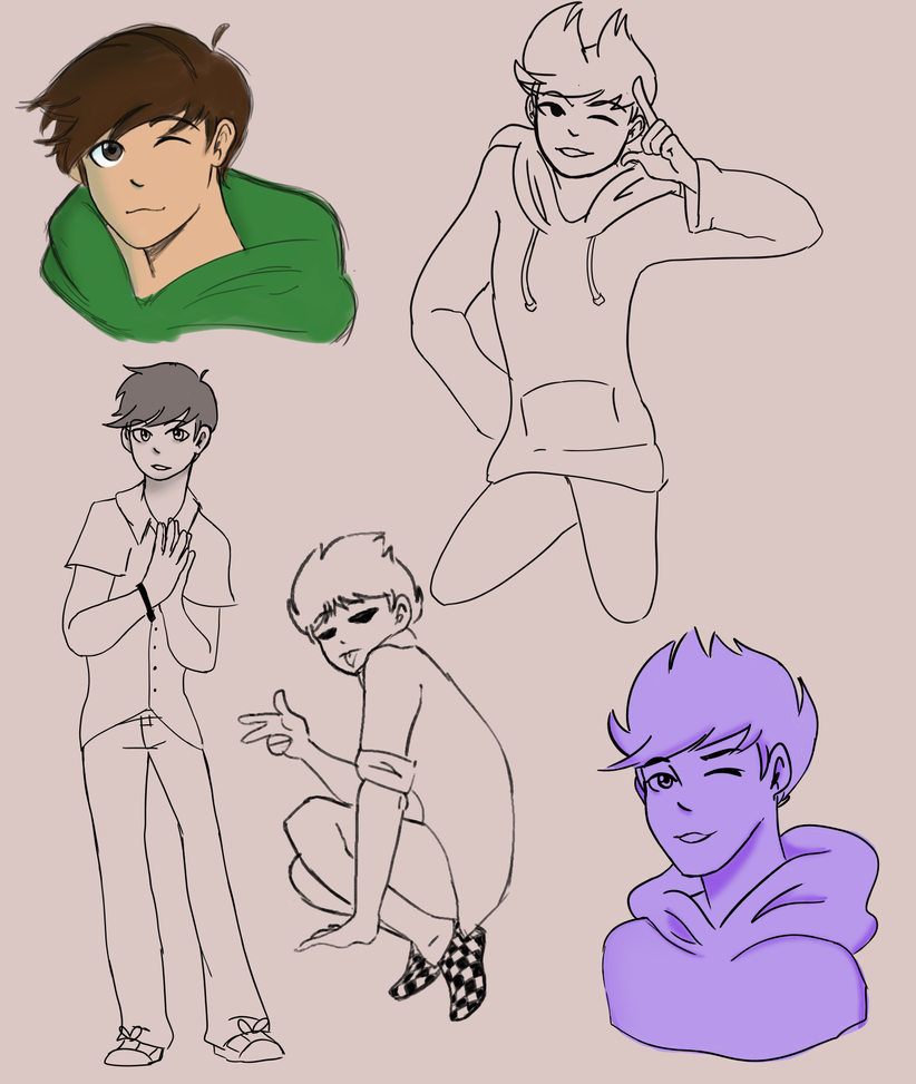 eddsworld doodles by Ailizerbee08