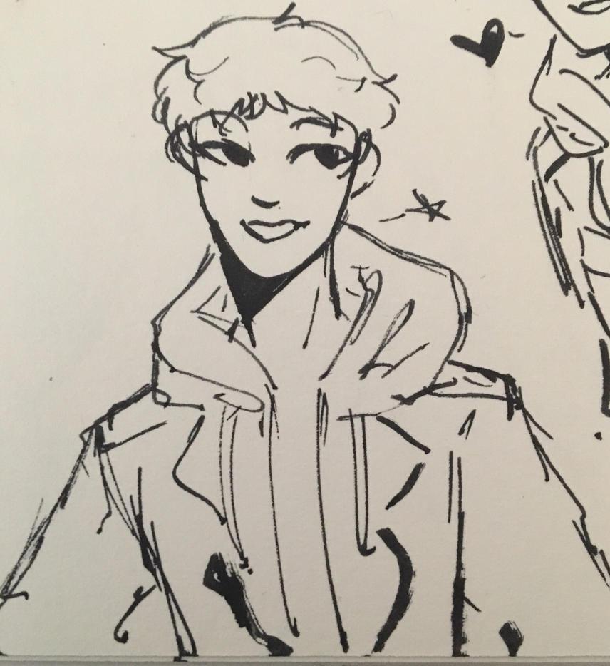 Lance Pen Doodle  by Ailizerbee08