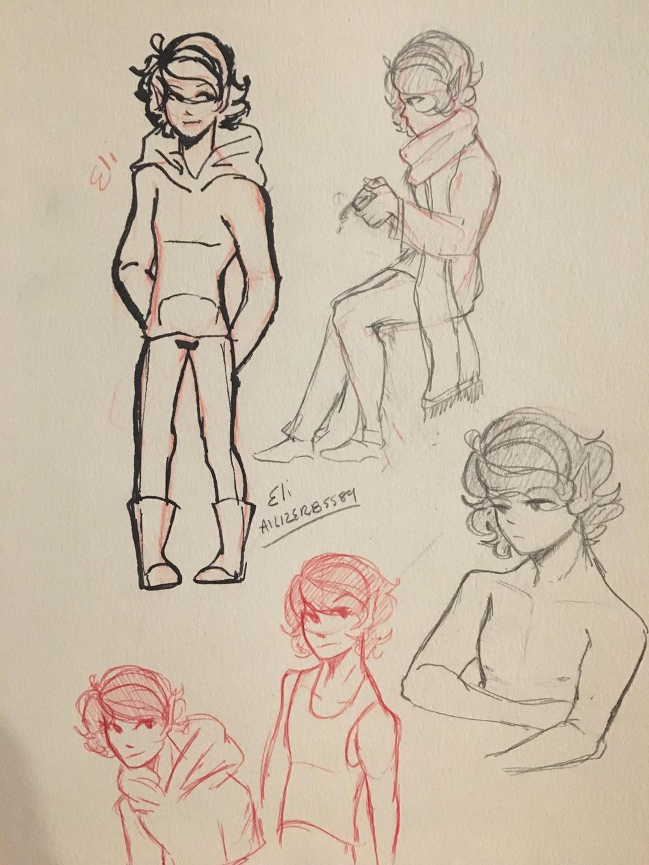 Eli Doodles  by Ailizerbee08