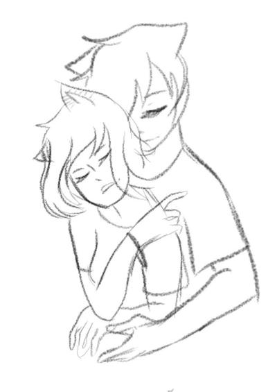 Cuddle  by Ailizerbee08