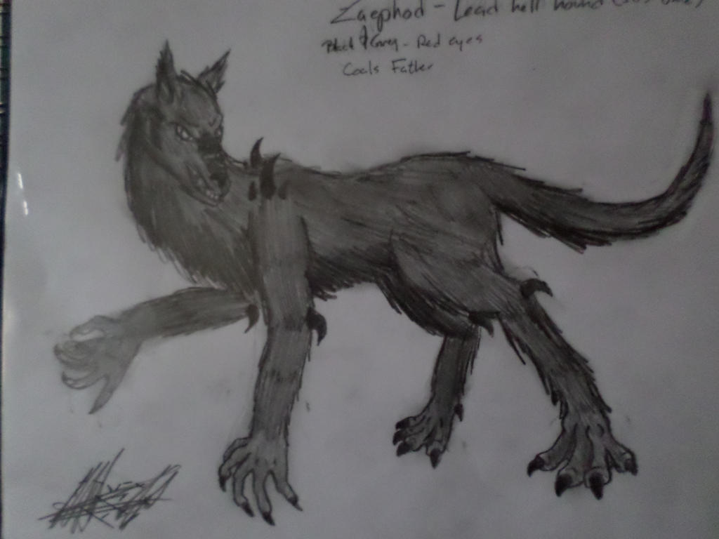 Zaephod (Hellhound) by Katty-Waterbender
