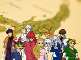 Anime guys and me by reenas-as