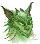 Creature Sketch in Green