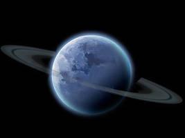 Ringed Planet Blue