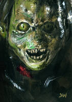 Lord of the Rings Orc Sketch Card by Stungeon