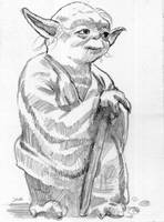 Yoda Sketch Card by Stungeon