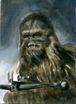 Chewbacca Sketch Card ACEO