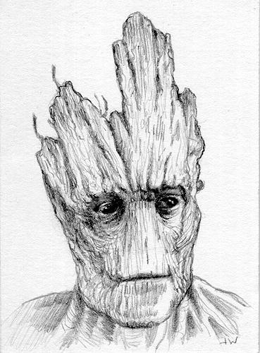 Groot Sketch Card by Stungeon on DeviantArt