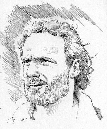 Rick The Walking Dead Sketch Card by Stungeon