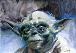 Yoda Star Wars Sketch Card