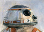 BB-8 Star Wars Sketch Card