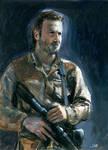 Walking Dead Rick Sketch Card