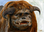 Ludo from Labyrinth Sketch Card