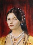 Anne Boylen The Tudors Sketch Card