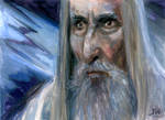 Saruman Lord of the Rings Sketch Card