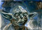 Yoda Sketch Card