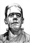 Frankenstein Sketch Card