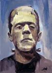 Frankenstein Sketch Card by Stungeon