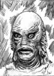 Creature Black Lagoon Sketch Card