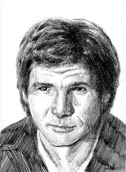 Han Solo Star Wars Sketch Card