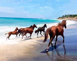 Beach-Horses
