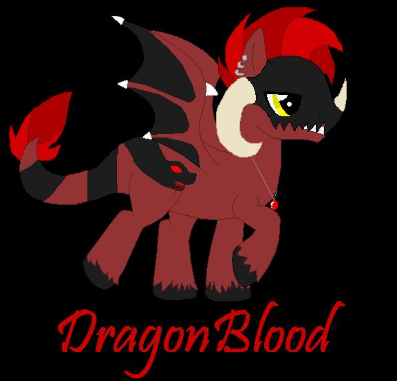 DragonBlood ~New OC~ by XBluexMoonX