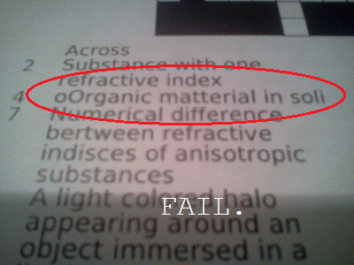 Homework fail