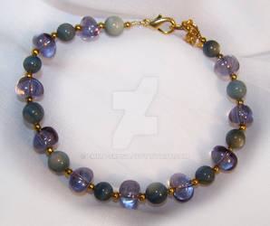 Glass and nacre bracelet by emma-frost