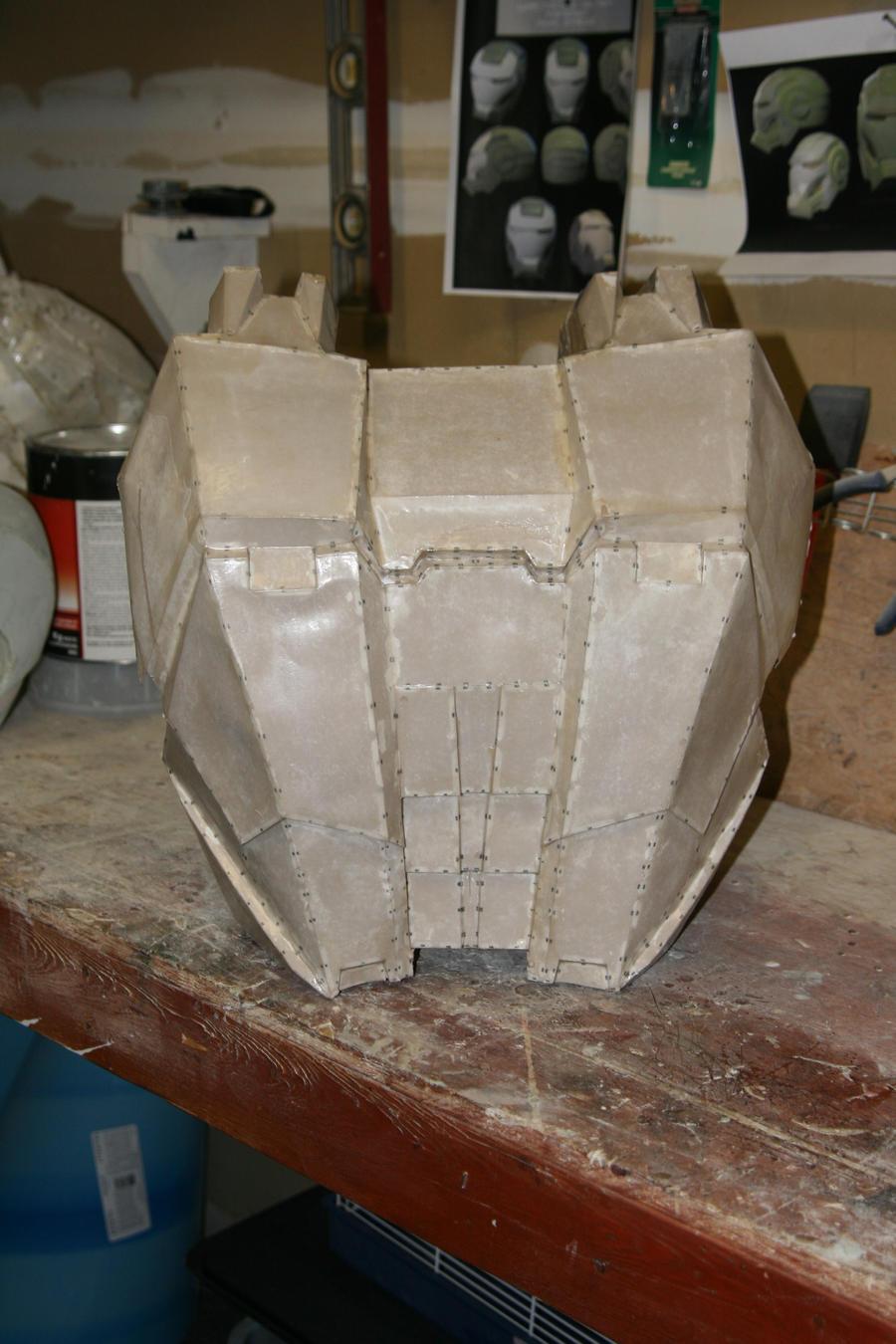 War Machine Helmet Pepakura War machine pepakura back by
