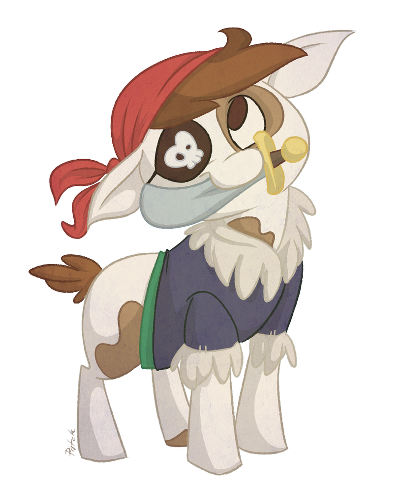 Pip the Pirate Pony by PashaPup