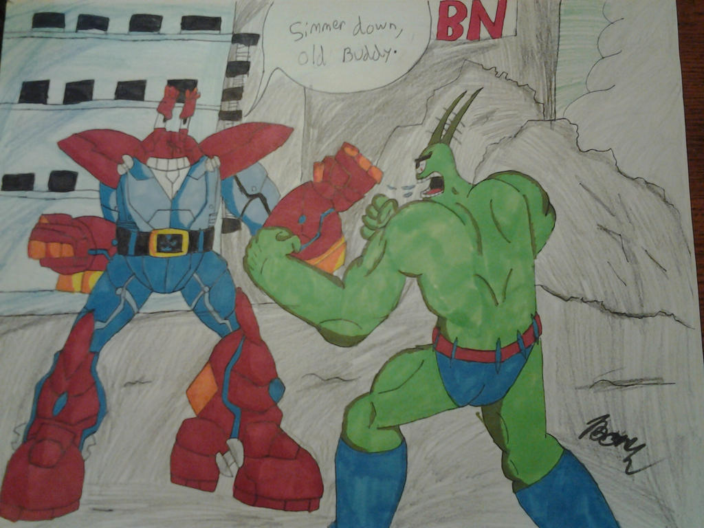 spongebob avengers plankton vs mr krabs by tboniuss413 on