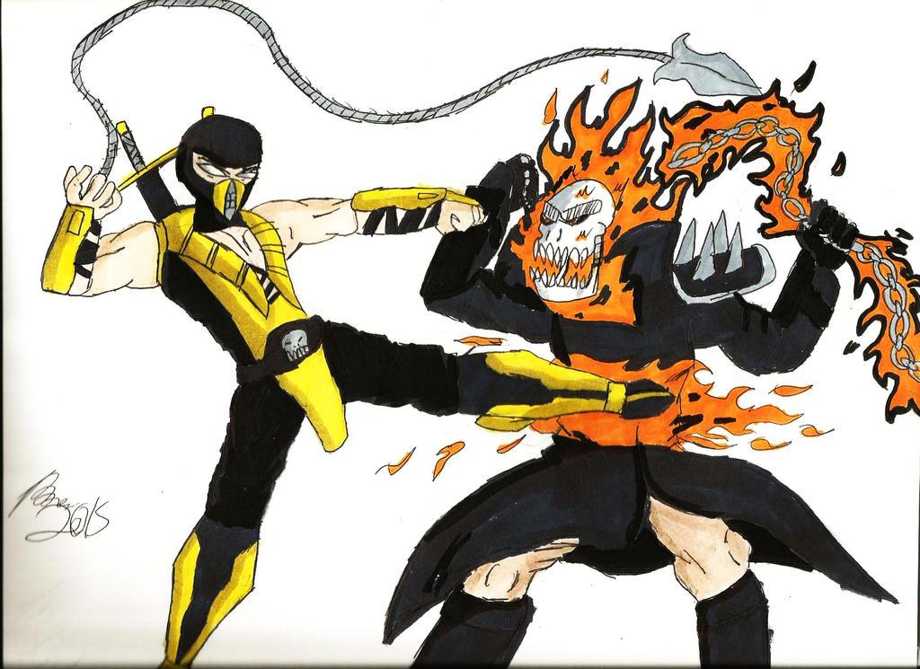 Scorpion vs. Ghost Rider by Tboniuss413 on DeviantArt