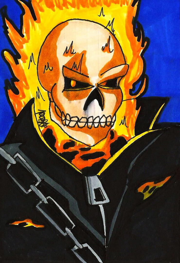 GHOST RIDER HERO CARD by Tboniuss413