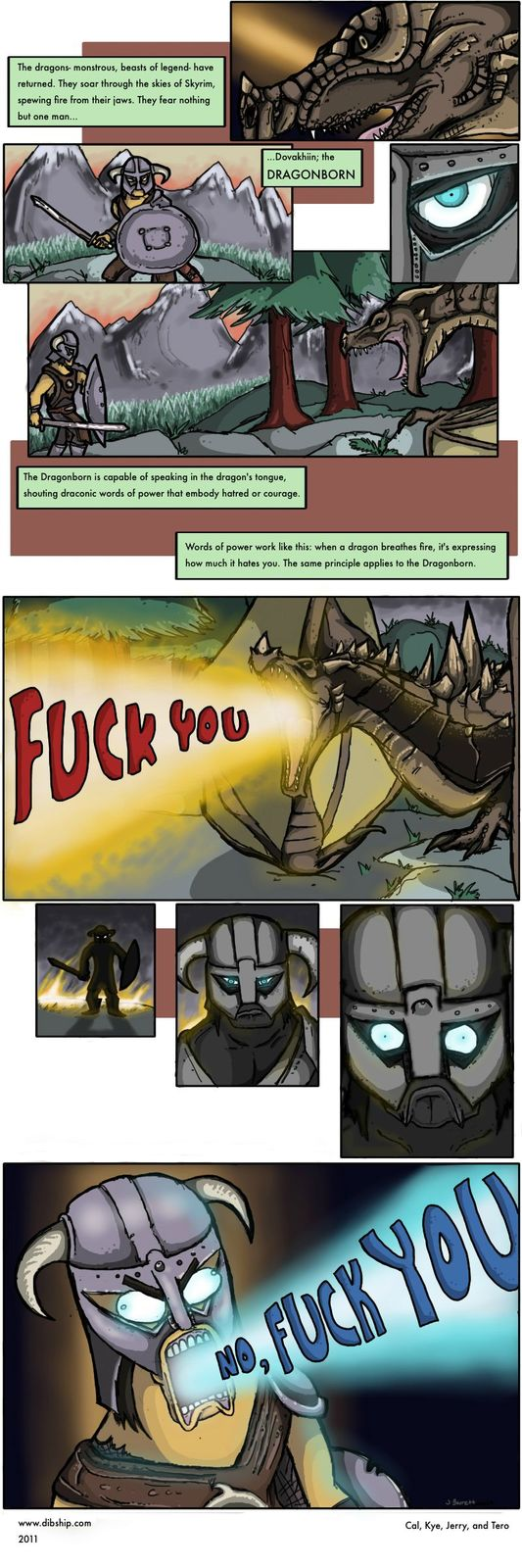 Skyrim Comic by cody2404