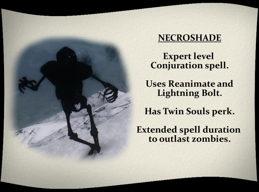 SUMMON NECROSHADE - New Spell and Enemies at Skyrim Nexus