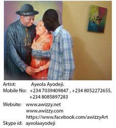 portrait painting of nigerian president:  Ayodeji by awizzy
