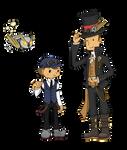 Steampunk : Professor Layton + Luke