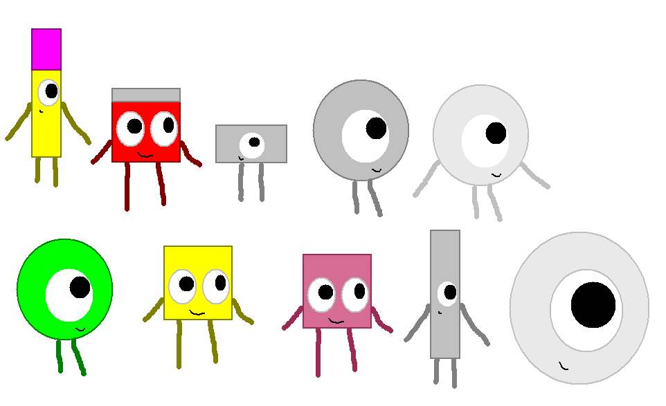 BFDI characters part 2 by DigitAmberGold on DeviantArt