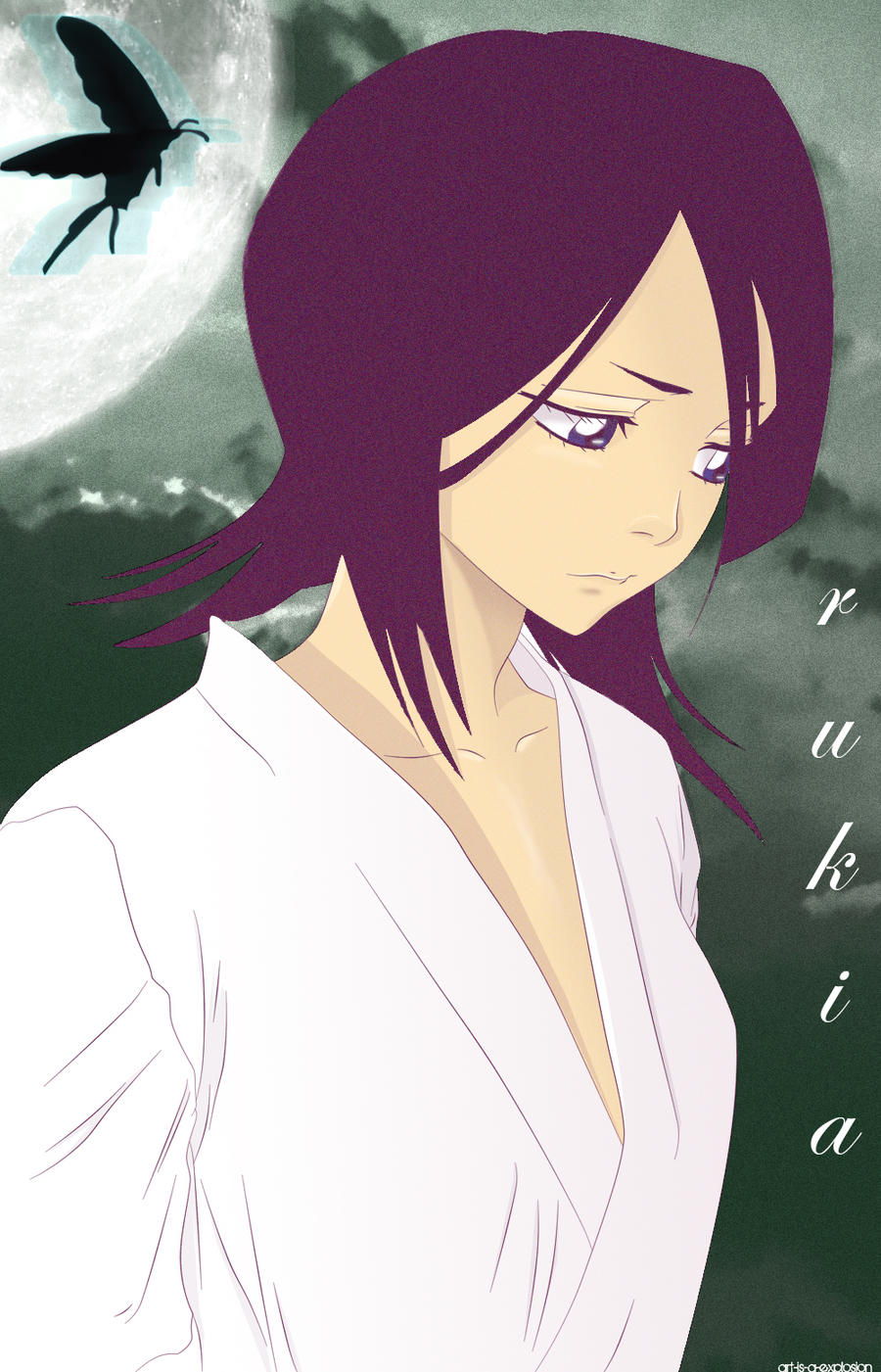Rukia and the sadness by Art-is-a-Explosion