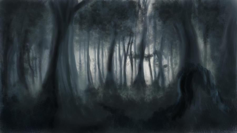 art dark car forest - photo #33