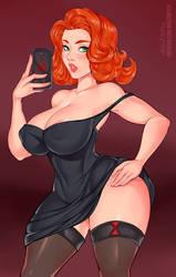 Black Widow selfie (Alternative version)