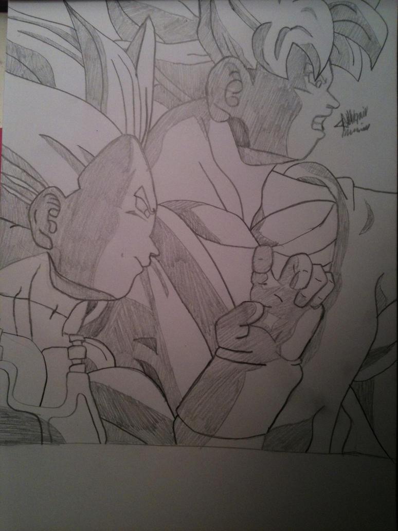 Super Saiyan Goku and Vegeta Fighting Stance by ...