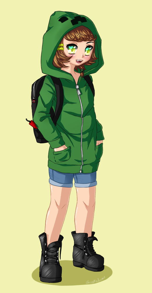 Creeper girl by griellaanime on deviantart - Creeper anime girl ...