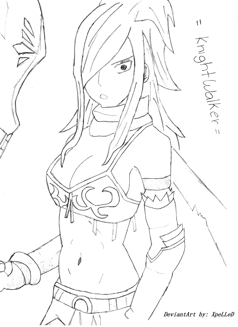 erza knightwalker of fairy tail by xpelled ali on deviantart