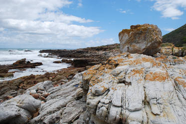 Boulders on the Shore by CompassLogicStock