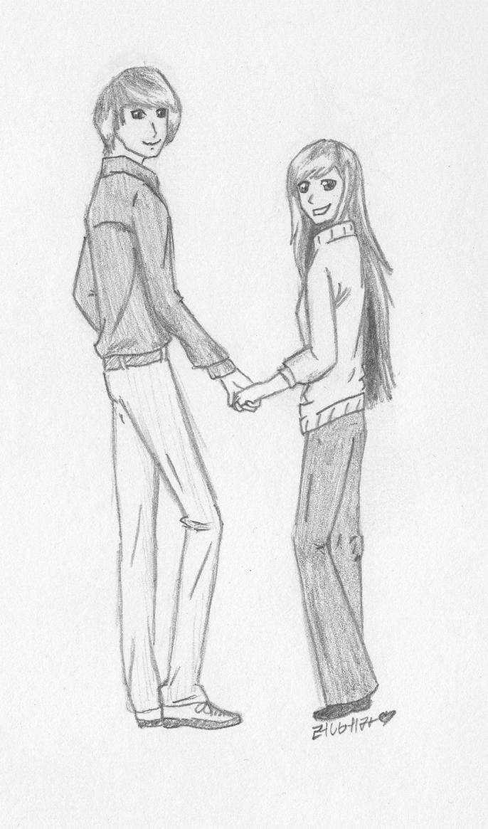 Uncategorized How To Draw Two People Holding Hands holding hands by bbchild on deviantart bbchild