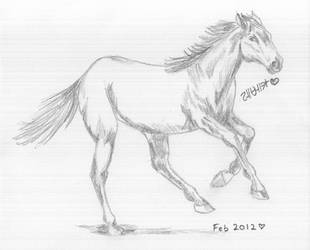 Running Quarter Horse by BBChild