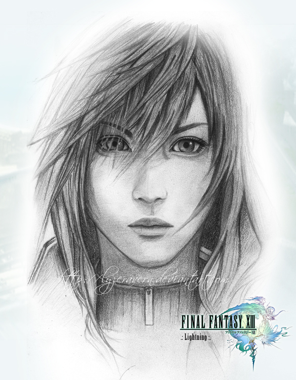 FFXIII :: Sketch of Lightning by lyzeravern