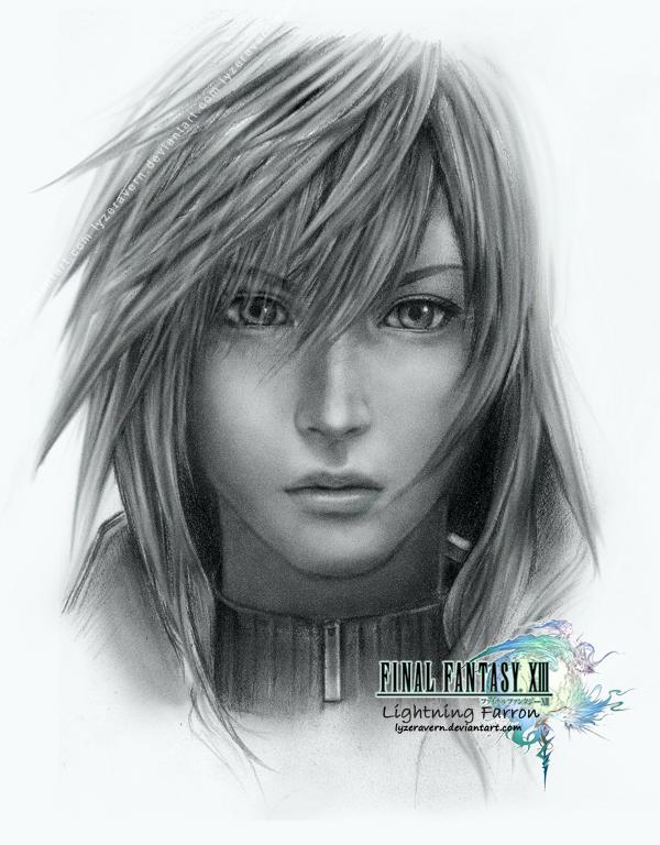FFXIII: Re-Sketch of Lightning by lyzeravern