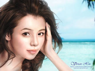 Portrait Drawing: Vivian Hsu by lyzeravern